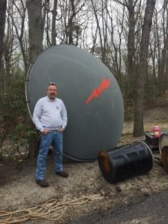 Bill next to dish