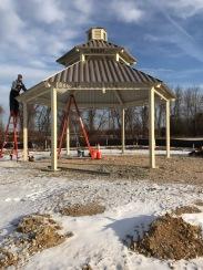 Pavilion under construction